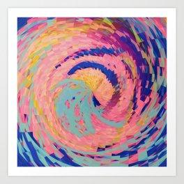 Rosie Angular Swirls Art Print