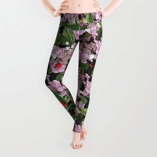 Floral insects pattern Leggings
