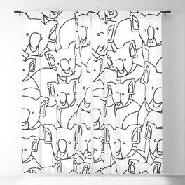 Minimalist Koala Blackout Curtain
