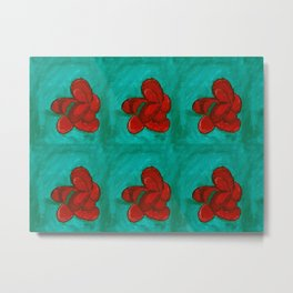 Red succulent Metal Print