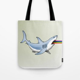 Rainbow Shark Tote Bag