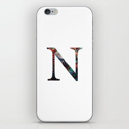 "Initial letter ""N"" iPhone Skin"