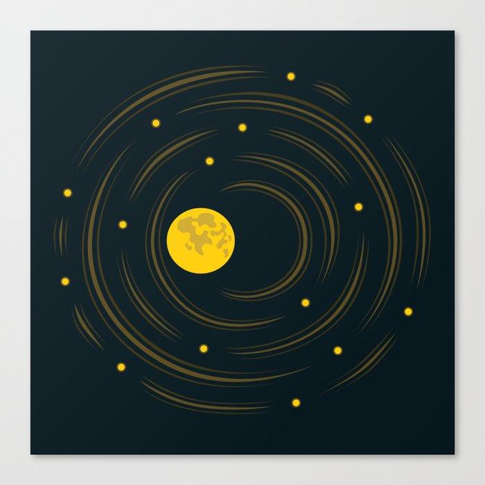 Moon And Stars Dream Canvas Print