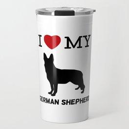 I Love my German Shepherd Design Travel Mug
