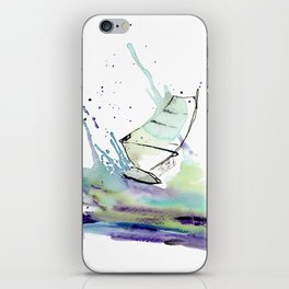 Windurfer - Surfart in watercolor - Surf Decor iPhone Skin