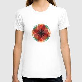 Rose Window - Red and Orange T-shirt