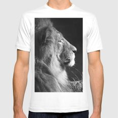 Pretty Kitty in Black & White MEDIUM White Mens Fitted Tee