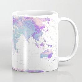 Unicorn Earth Map Coffee Mug