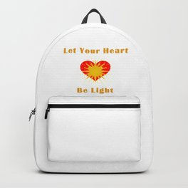 Let your heart be light Backpack