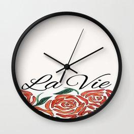 LaVie en Rose Wall Clock