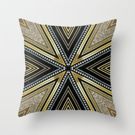 Glam Cross Star Throw Pillow