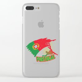Football Worldcup Portuguese Portugal Soccer Team Sports Footballer Rugby Gift Clear iPhone Case