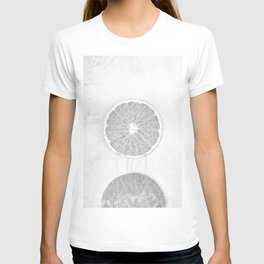 Black and White Orange T-shirt