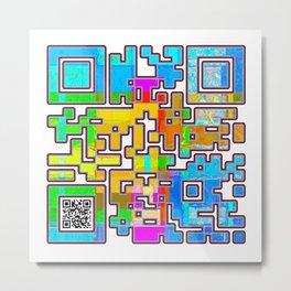 Energy Hidden Message Metal Print
