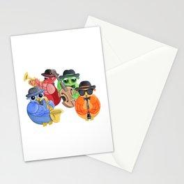 Jazz Owls Stationery Cards