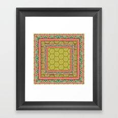 Mya Square Pink Framed Art Print