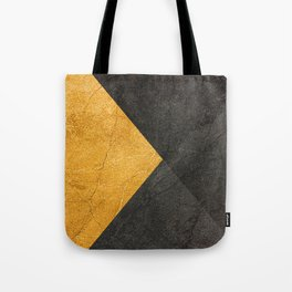 Yellow and Grey - Triangle Tote Bag