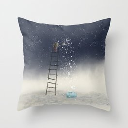 Harvesting Stars Throw Pillow