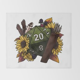 Ranger Class D20 - Tabletop Gaming Dice Throw Blanket
