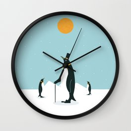 Noble Penguins Wall Clock