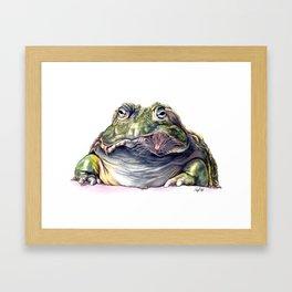 Bullfrog Snacking Framed Art Print