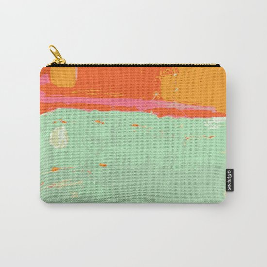 Infinity abstract art print pastel color Carry-All Pouch