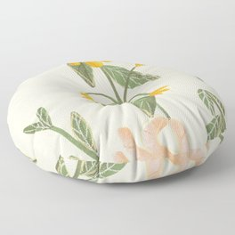 Flower in a hand Floor Pillow
