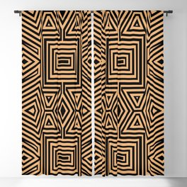 African Geometric Tribal Pattern 2 Blackout Curtain
