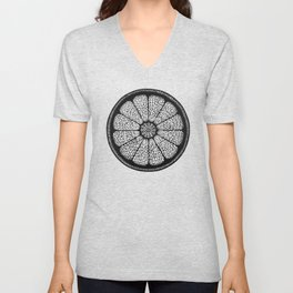 Citrus Slice - Black Ink Unisex V-Neck