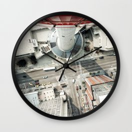 look down from calgary tower Wall Clock