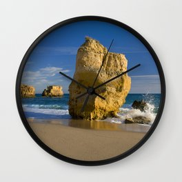 Rock formations, Albufeira, Portugal Wall Clock