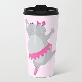 Hippo Ballerina Travel Mug
