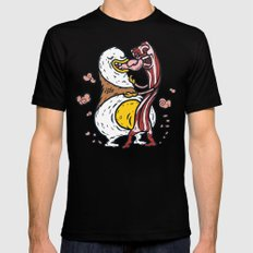 Eggs and Bacon Mens Fitted Tee Black MEDIUM