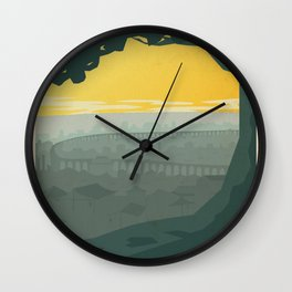 Ba Sing Se Travel Poster Wall Clock