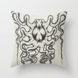 Spotted Octopus Throw Pillow