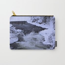 Water Fall In Winter Carry-All Pouch