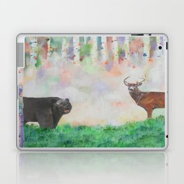 The relationship between a bear and a deer Laptop & iPad Skin