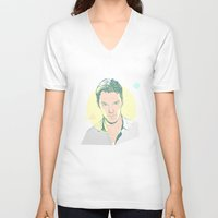 benedict V-neck T-shirts featuring Benedict Cumberbatch by chyworks