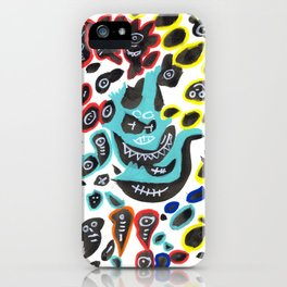 Sweet Little Monsters Pattern for Kids iPhone Case
