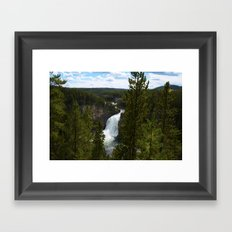 Upper Falls - Yellowstone National Park Waterfall  Framed Art Print
