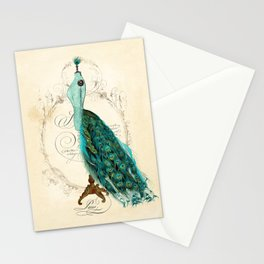 Peacock bustle mannequin Stationery Cards
