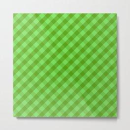 Green plaid Metal Print