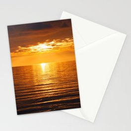 Golden Fire Tangerine Tropical Sunset Across Infinity Stationery Cards