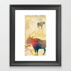 Chinese Lunar New Year and 12 animals ❤ The OX 牛 Framed Art Print