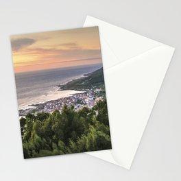 Galician coast at sunset Stationery Cards
