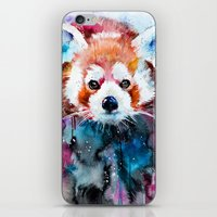 red panda iPhone & iPod Skins featuring Red panda by Slaveika Aladjova