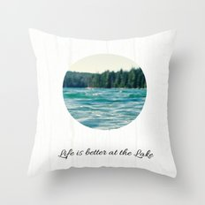 Life on the Lake Throw Pillow