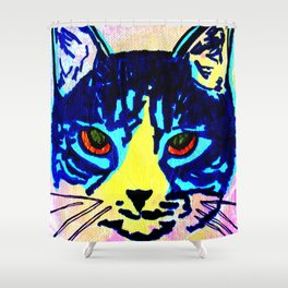 Pop Art Cat No. 2 Shower Curtain