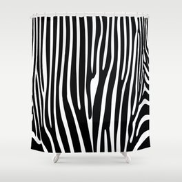 Zebra geometric pattern Shower Curtain
