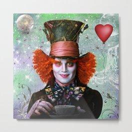 Alice in wonderland- Mad Hatter Metal Print